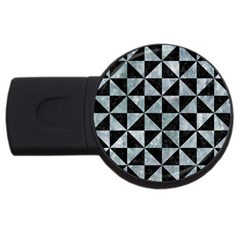 Triangle1 Black Marble & Ice Crystals Usb Flash Drive Round (4 Gb) by trendistuff