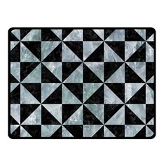 Triangle1 Black Marble & Ice Crystals Fleece Blanket (small) by trendistuff