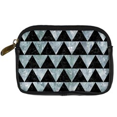 Triangle2 Black Marble & Ice Crystals Digital Camera Cases by trendistuff