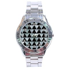 Triangle2 Black Marble & Ice Crystals Stainless Steel Analogue Watch by trendistuff