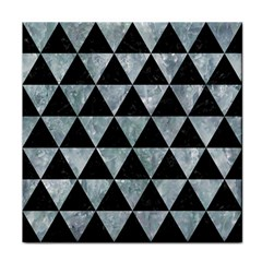 Triangle3 Black Marble & Ice Crystals Face Towel by trendistuff