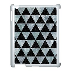 Triangle3 Black Marble & Ice Crystals Apple Ipad 3/4 Case (white) by trendistuff