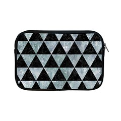 Triangle3 Black Marble & Ice Crystals Apple Ipad Mini Zipper Cases by trendistuff