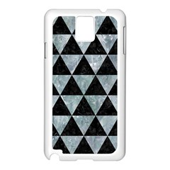 Triangle3 Black Marble & Ice Crystals Samsung Galaxy Note 3 N9005 Case (white) by trendistuff