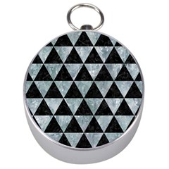 Triangle3 Black Marble & Ice Crystals Silver Compasses by trendistuff