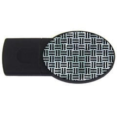 Woven1 Black Marble & Ice Crystals Usb Flash Drive Oval (4 Gb) by trendistuff