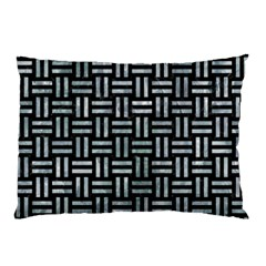 Woven1 Black Marble & Ice Crystals (r) Pillow Case by trendistuff