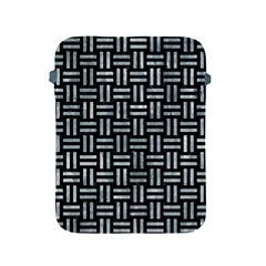 Woven1 Black Marble & Ice Crystals (r) Apple Ipad 2/3/4 Protective Soft Cases by trendistuff