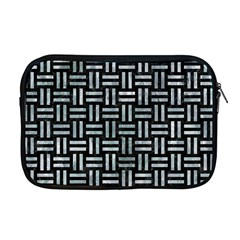 Woven1 Black Marble & Ice Crystals (r) Apple Macbook Pro 17  Zipper Case by trendistuff