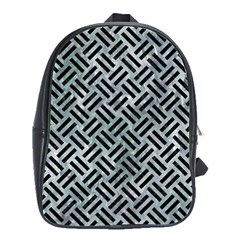 Woven2 Black Marble & Ice Crystals School Bag (large) by trendistuff