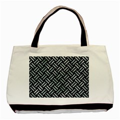 Woven2 Black Marble & Ice Crystals (r) Basic Tote Bag (two Sides) by trendistuff