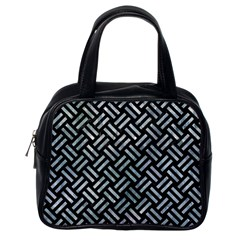 Woven2 Black Marble & Ice Crystals (r) Classic Handbags (one Side) by trendistuff