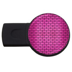 Brick1 Black Marble & Pink Brushed Metal Usb Flash Drive Round (2 Gb) by trendistuff