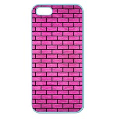 Brick1 Black Marble & Pink Brushed Metal Apple Seamless Iphone 5 Case (color) by trendistuff