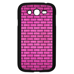 Brick1 Black Marble & Pink Brushed Metal Samsung Galaxy Grand Duos I9082 Case (black) by trendistuff