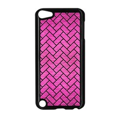 Brick2 Black Marble & Pink Brushed Metal Apple Ipod Touch 5 Case (black) by trendistuff