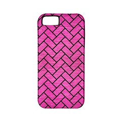 Brick2 Black Marble & Pink Brushed Metal Apple Iphone 5 Classic Hardshell Case (pc+silicone) by trendistuff
