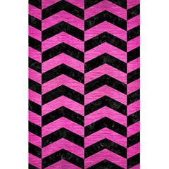 Chevron2 Black Marble & Pink Brushed Metal 5 5  X 8 5  Notebooks by trendistuff