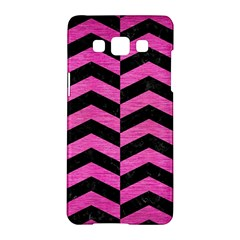 Chevron2 Black Marble & Pink Brushed Metal Samsung Galaxy A5 Hardshell Case  by trendistuff