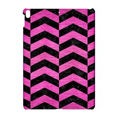 Chevron2 Black Marble & Pink Brushed Metal Apple Ipad Pro 10 5   Hardshell Case by trendistuff
