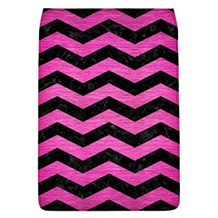 Chevron3 Black Marble & Pink Brushed Metal Flap Covers (l)  by trendistuff