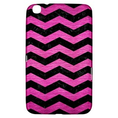Chevron3 Black Marble & Pink Brushed Metal Samsung Galaxy Tab 3 (8 ) T3100 Hardshell Case  by trendistuff
