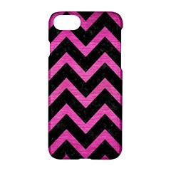 Chevron9 Black Marble & Pink Brushed Metal (r) Apple Iphone 7 Hardshell Case by trendistuff