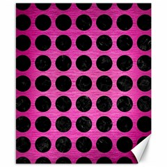 Circles1 Black Marble & Pink Brushed Metal Canvas 8  X 10  by trendistuff