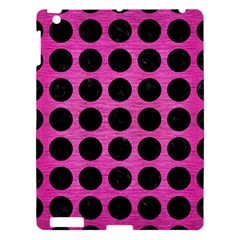Circles1 Black Marble & Pink Brushed Metal Apple Ipad 3/4 Hardshell Case by trendistuff