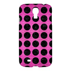 Circles1 Black Marble & Pink Brushed Metal Samsung Galaxy S4 I9500/i9505 Hardshell Case by trendistuff