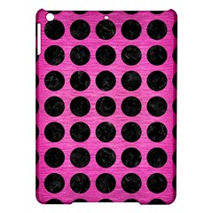 Circles1 Black Marble & Pink Brushed Metal Ipad Air Hardshell Cases