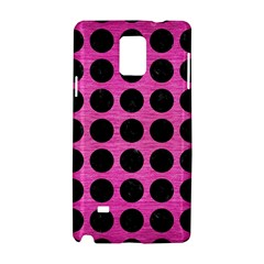 Circles1 Black Marble & Pink Brushed Metal Samsung Galaxy Note 4 Hardshell Case by trendistuff