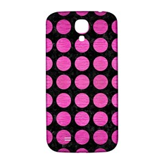 Circles1 Black Marble & Pink Brushed Metal (r) Samsung Galaxy S4 I9500/i9505  Hardshell Back Case by trendistuff