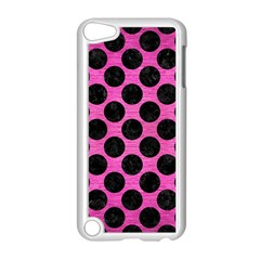 Circles2 Black Marble & Pink Brushed Metal Apple Ipod Touch 5 Case (white) by trendistuff