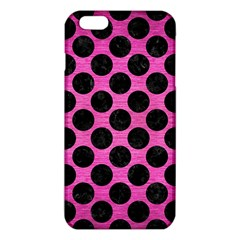 Circles2 Black Marble & Pink Brushed Metal Iphone 6 Plus/6s Plus Tpu Case by trendistuff