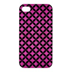 Circles3 Black Marble & Pink Brushed Metal Apple Iphone 4/4s Hardshell Case by trendistuff