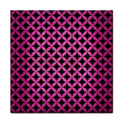 Circles3 Black Marble & Pink Brushed Metal (r) Face Towel by trendistuff