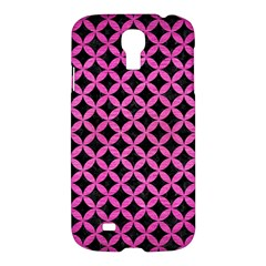 Circles3 Black Marble & Pink Brushed Metal (r) Samsung Galaxy S4 I9500/i9505 Hardshell Case by trendistuff