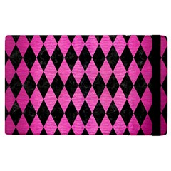 Diamond1 Black Marble & Pink Brushed Metal Apple Ipad Pro 9 7   Flip Case by trendistuff