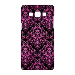 Damask1 Black Marble & Pink Brushed Metal (r) Samsung Galaxy A5 Hardshell Case  by trendistuff