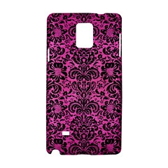 Damask2 Black Marble & Pink Brushed Metal Samsung Galaxy Note 4 Hardshell Case by trendistuff