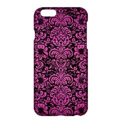 Damask2 Black Marble & Pink Brushed Metal (r) Apple Iphone 6 Plus/6s Plus Hardshell Case by trendistuff