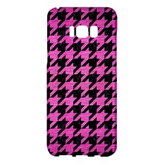 Houndstooth1 Black Marble & Pink Brushed Metal Samsung Galaxy S8 Plus Hardshell Case  by trendistuff