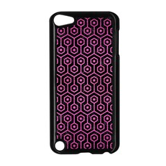 Hexagon1 Black Marble & Pink Brushed Metal (r) Apple Ipod Touch 5 Case (black) by trendistuff