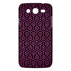Hexagon1 Black Marble & Pink Brushed Metal (r) Samsung Galaxy Mega 5 8 I9152 Hardshell Case  by trendistuff