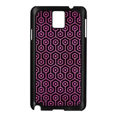 Hexagon1 Black Marble & Pink Brushed Metal (r) Samsung Galaxy Note 3 N9005 Case (black) by trendistuff