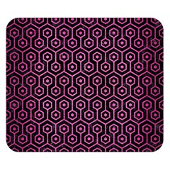Hexagon1 Black Marble & Pink Brushed Metal (r) Double Sided Flano Blanket (small)  by trendistuff