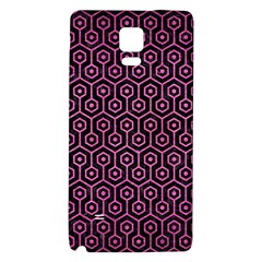 Hexagon1 Black Marble & Pink Brushed Metal (r) Galaxy Note 4 Back Case by trendistuff