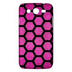 Hexagon2 Black Marble & Pink Brushed Metal Samsung Galaxy Mega 5 8 I9152 Hardshell Case  by trendistuff