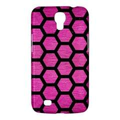 Hexagon2 Black Marble & Pink Brushed Metal Samsung Galaxy Mega 6 3  I9200 Hardshell Case by trendistuff